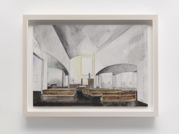 STEVEN HOLL Chapel of St. Ignatius, 1995 Watercolor & pencil on paper 10 x 14 inches