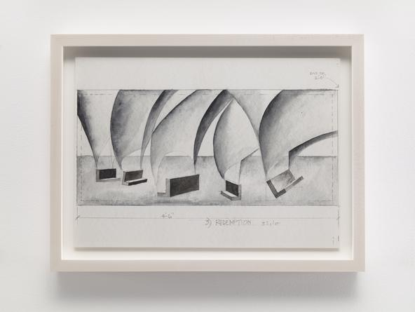 STEVEN HOLL Chapel of St. Ignatius, 1994-99 Watercolor & pencil on paper 10 x 14 inches