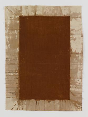 Untitled (Rust Transfer), 1991/92 Rust on fabric 74 3/4 x 54 1/4 inches GLG2094
