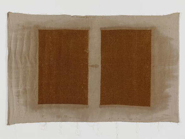 Untitled (Rust Transfer), 1991/92 Rust on fabric 52 1/4 x 82 1/2 inches GLG2095