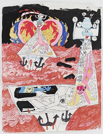 Black Magic, 2008 Gouache, graphite & marker on paper 58 x 45 inches SGI1506