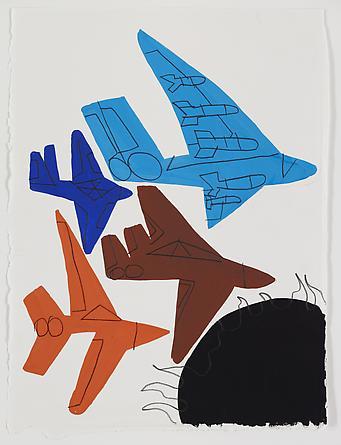 Mad Bombers, 2011 Gouache & graphite on paper 15 x 11 inches SGI1872