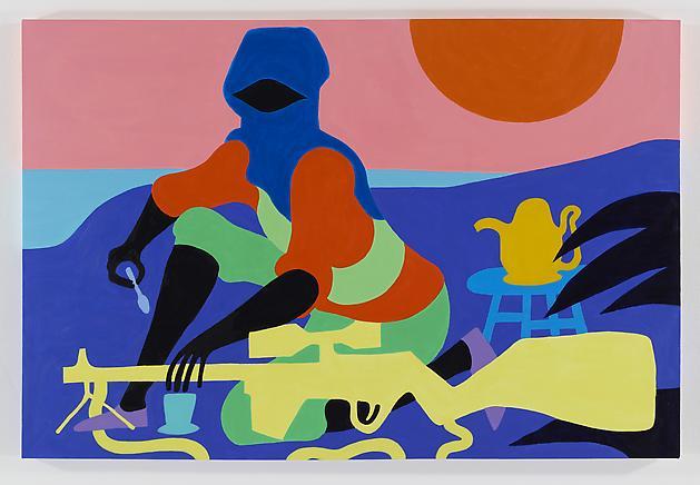 Earl Grey, 2012 Acrylic on canvas 48 x 72 inches