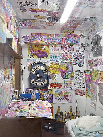 Vandal's Bedroom, 2012 Installation: bedroom, drawings, sketchbooks