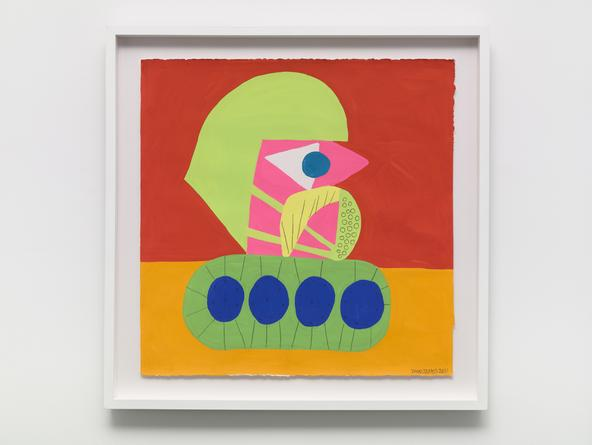 TODD JAMES Fun Patrol, 2011 Gouache and graphite on paper 22 x 22 inches SGI3101