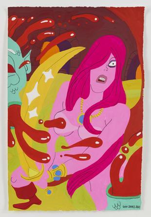 Demon Witch, 2013 Gouache & graphite on paper 22 ½ x 14 ¾ inches SGI2665