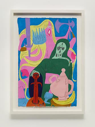 Tea Party in the Abyss, 2013 Gouache & graphite on paper 22 1/2 x 14 1/2 inches Framed: 26 1/4 x 19 inches SGI2668