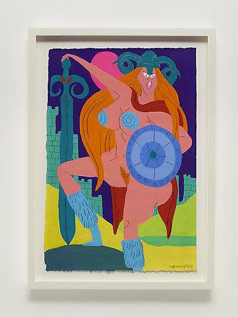 Daughter of Asgard, 2013 Gouache & graphite on paper 22 1/2 x 15 inches Framed: 26 1/4 x 19 inches SGI2670