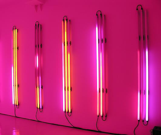 Columns 5, 2005 LEDs, custom software, electrical hardware 108 x 164 x 4 inches