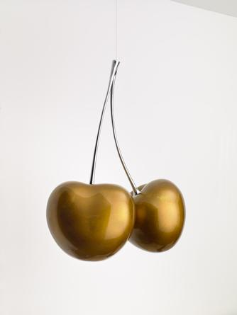 VINCENT SZAREK Cherries (Gold), 2016 Urethane on cast aluminum, chrome plated bronze 31 x 24 x 13 inches #2/3 SGI3209