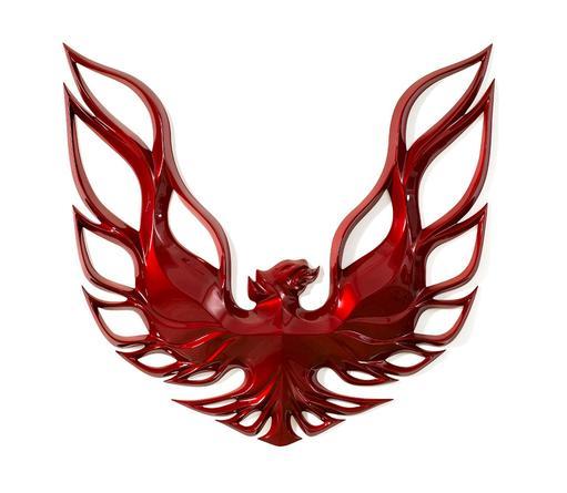 Firebird, 2009 Urethane on fiberglass 75 x 75 x 7 inches
