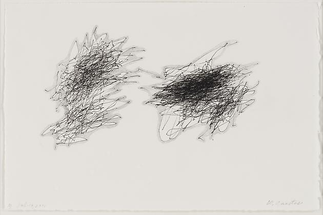 Untitled (Method & Madness A) Jul. 19, 2010), 2010 Ink & graphite on paper 7 1/2 x 11 3/8 inches GLG1570