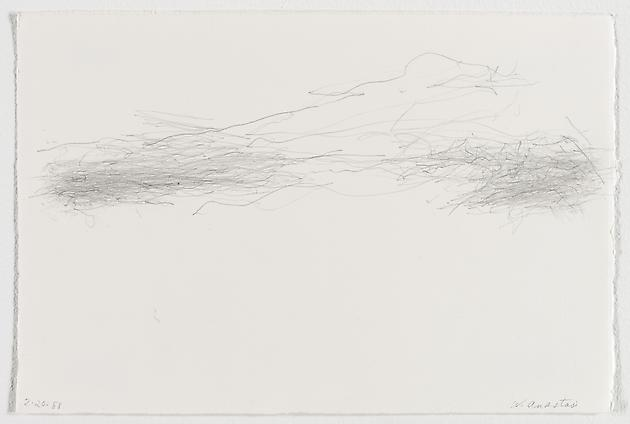 Untitled (2.20.88), 1988 Graphite on paper 7 1/2 x 11 1/4 inches GLG1761