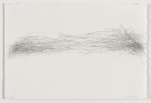 Untitled (10.14.89), 1989 Graphite on paper 7 1/2 x 11 1/4 inches GLG1762