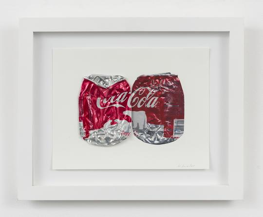 Untitled (Coke Can, 2015 Aluminum mounted to digital print 8 1/2 x 11 inches Framed: 12 3/4 x 15 3/4 inches SGI3064