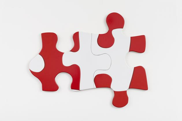 Puzzle Puzzle, 2015 Printed vinyl laminate mounted on MDF, in two parts 35 x 43 x 1 inches oveall SGI3070