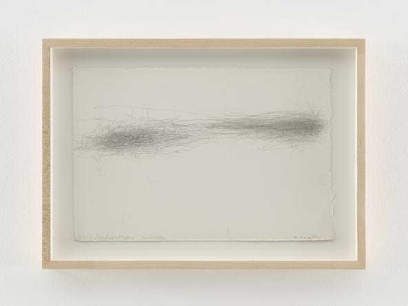 Untitled (Subway Drawing: 4.21.12 Lucy Lippard, Ethan 6:03-Houston), 2012 Graphite on paper 7 1/2 x 11 1/4 inches SGI2748
