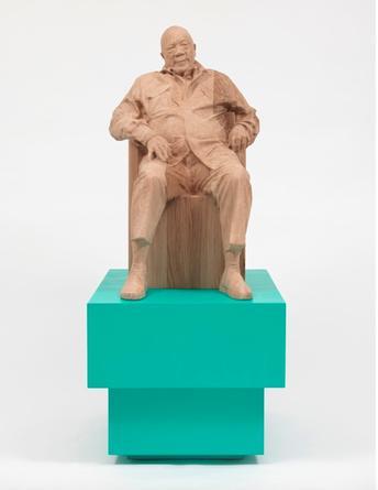 XAVIER VEILHAN Quincy Jones, 2015 Oak, plywood, acrylic paint and varnish 48 1/4 x 20 1/2 x 25 1/5 inches SGI3112