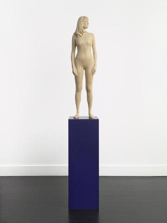 XAVIER VEILHAN Debora, 2006 Birch, painted base 87 x 13 1/2 x 13 1/2 inches SGI349
