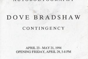 wiliam anastasi: autobodyography/dove bradshaw: contingency
