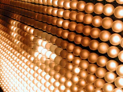 L'Oeil (The Eye) (detail) 2001 Light bulbs, aluminum, electronic device and electrical hardware 74 ½ x 59 x 20 inches Unique
