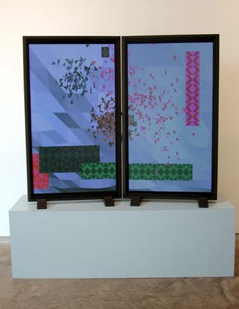 Swarms Installation view at Sandra Gering Gallery 2002