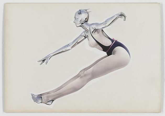 HAJIME SORAYAMA Untitled 1984 Acrylic on board 14 5/16 x 20 ¼ inches