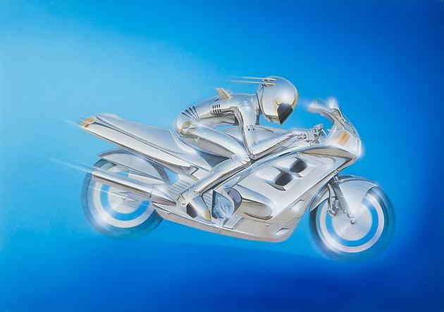 HAJIME SORAYAMA Untitled 1986 Acrylic on board 14 ¼ x 20 ¼ inches