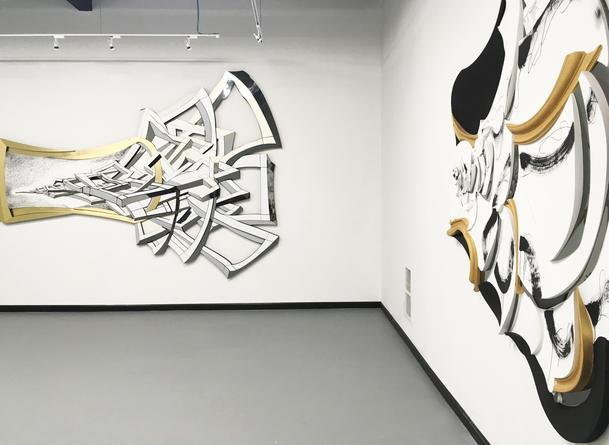 Installation view: John F. Simon, Jr: Large Scale Works