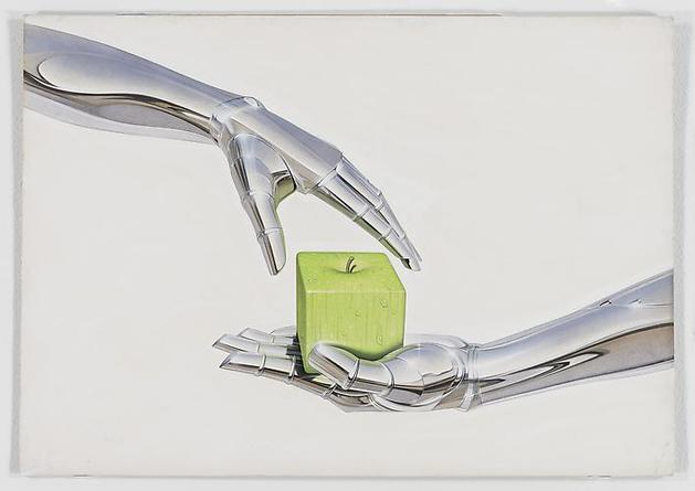 HAJIME SORAYAMA Untitled  c1980s Acrylic on board 14 ¼ x 20 ¼ inches