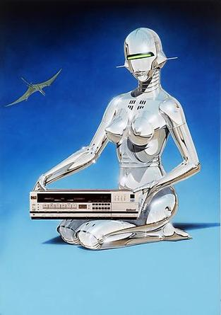 HAJIME SORAYAMA Untitled 1983 Acrylic on board 28 ½ x 20 3/16 inches