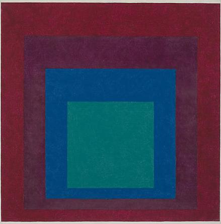 JOSEF ALBERS Study For Homage to The Square 1960 Oil on masonite 32 x 32 in