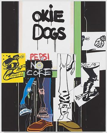 Okie Dogs 2010 Acrylic on linen 60 x 48 x 1 1/2 inches
