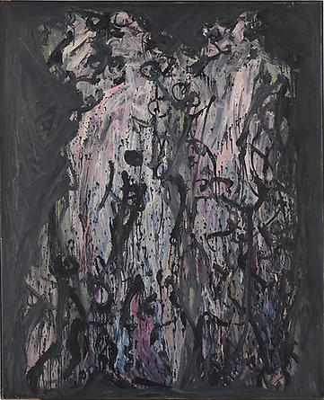 NICHOLAS MARSICANO Duo 1956 Oil on canvas 63 x 51 in