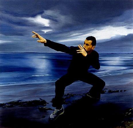 Xavier (#1) 1999-2000 Oil on canvas 90.5 x 94.5 x 2.75 inches Unique