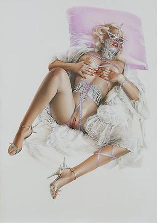 HAJIME SORAYAMA Untitled c1990s Acrylic on board 28 ½ x 20 ¼ inches