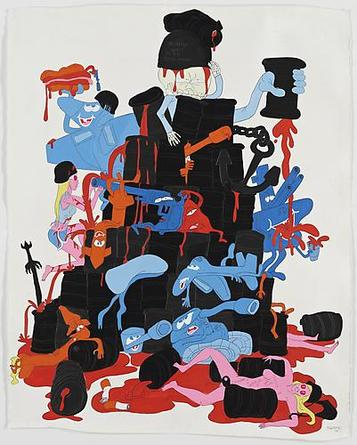 Mommy I Want to be Good Now 2008 Gouache & graphite on paper 64 1/4 x 51 1/2 inches