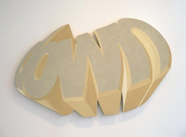 Down, 2005 Acrylic on wood 38 x 59 x 2 inches