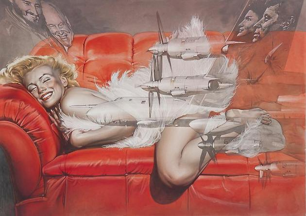 HAJIME SORAYAMA Untitled 2006 Acrylic on board 20 ¼ x 28 3/8 inches