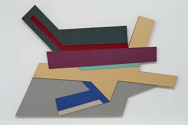 Frank Stella Odelsk III (Polish Village #11), 1971 Acrylic and cloth on plywood 90 x 132 inches