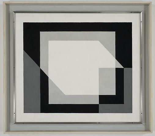JOSEF ALBERS Composure 1937 Oil on masonite 31 ½ x 36 ½ in