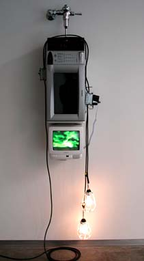 Shooting the Curl 2001 TV, VCR, microwave, plumbing hardware, light bulbs, electrical hardware 75 x 11 x 15 inches