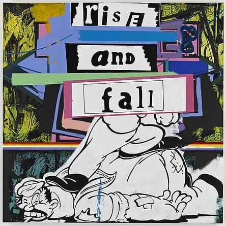 Rise And Fall 2010 Acrylic on linen 84 x 84 x 1 1/2 inches