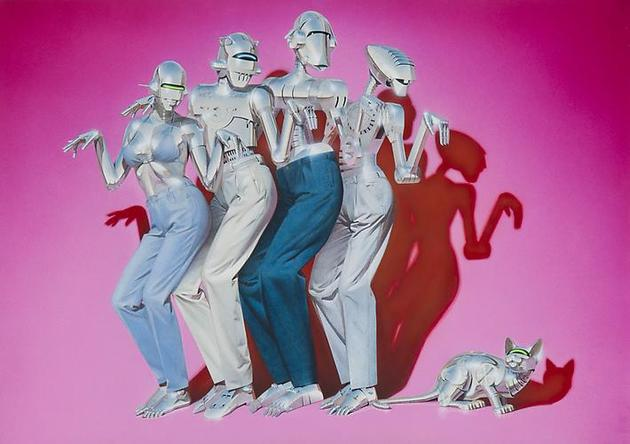 HAJIME SORAYAMA Untitled  c1980s Acrylic on board 20 ¼ x 28 5/8 inches
