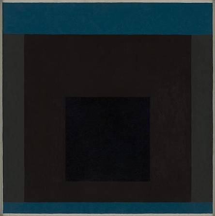 JOSEF ALBERS Homage To The Square (Memento) 1962 Oil on masonite 30 x 30 in