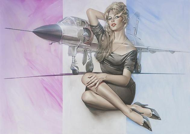 HAJIME SORAYAMA Untitled 2005 Acrylic on board 20 ¼ x 28 ½ inches