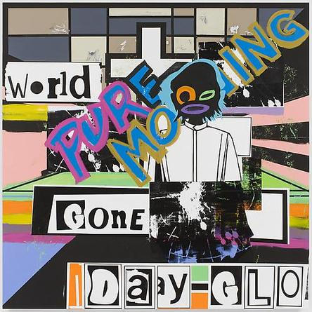 Pure Morning 2010 Acrylic & screenprint on linen 84 x 84 x 1 1/2 inches