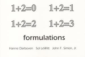 formulations: hanne darboven, sol lewitt, john f. simon, jr.