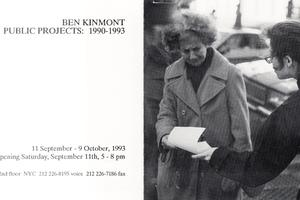 ben kinmont: public projects 1990-1993