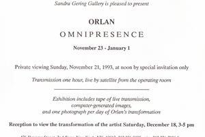 orlan: omnipresence